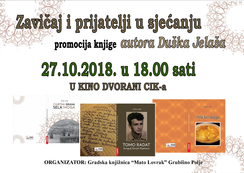 Promocija knjige Duška Jelaša